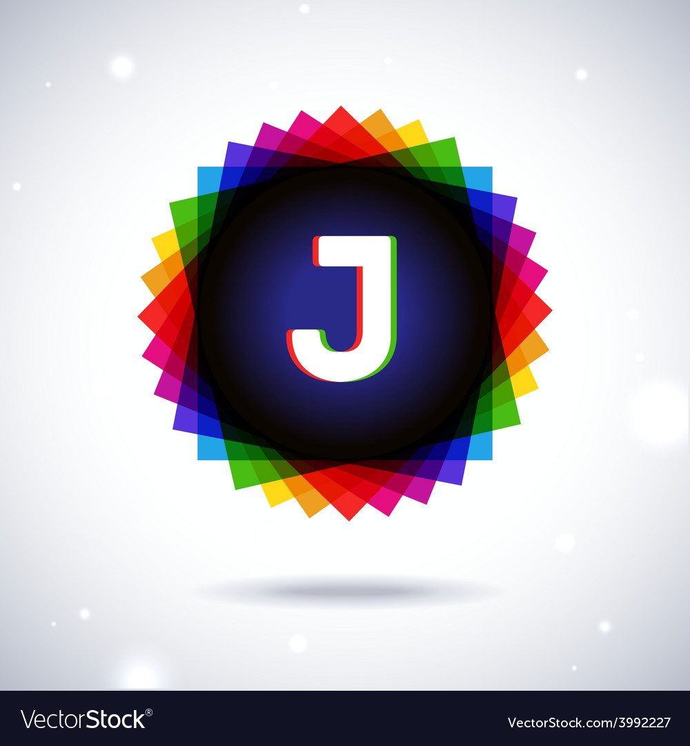 Spectrum logo icon letter j vector | Price: 1 Credit (USD $1)