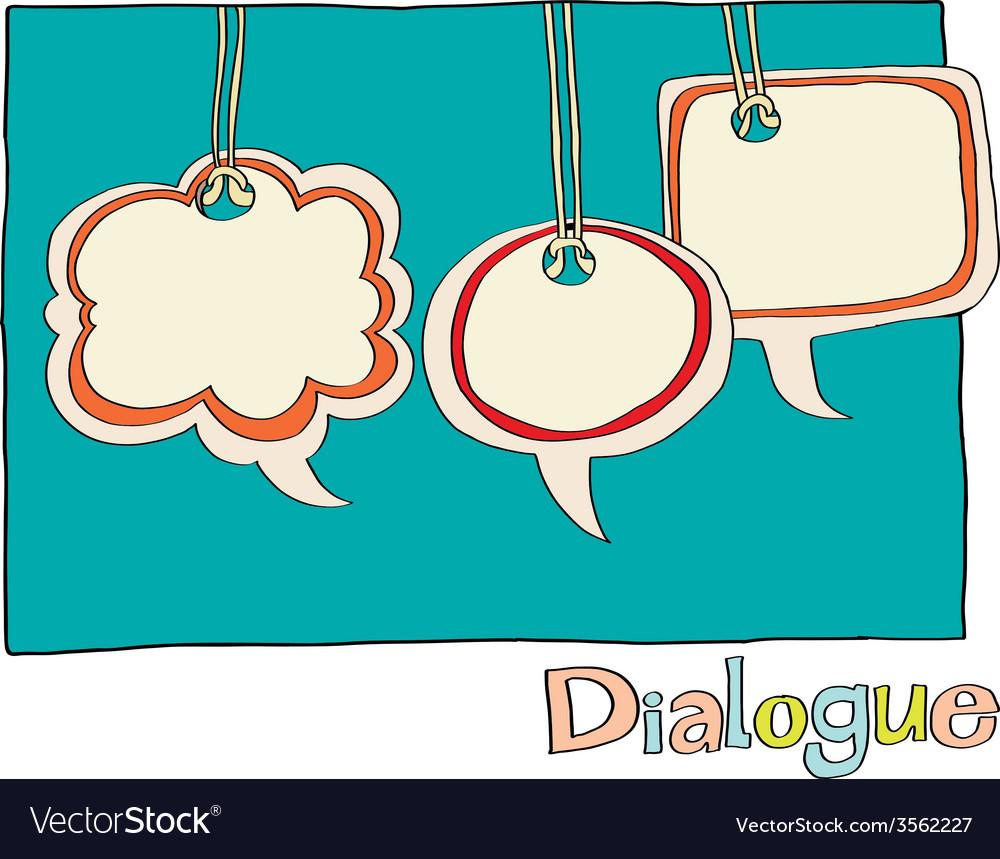 Speech clouds vector | Price: 1 Credit (USD $1)