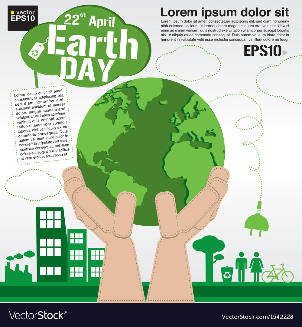April 22nd earth day conceptual eps10 vector | Price: 1 Credit (USD $1)