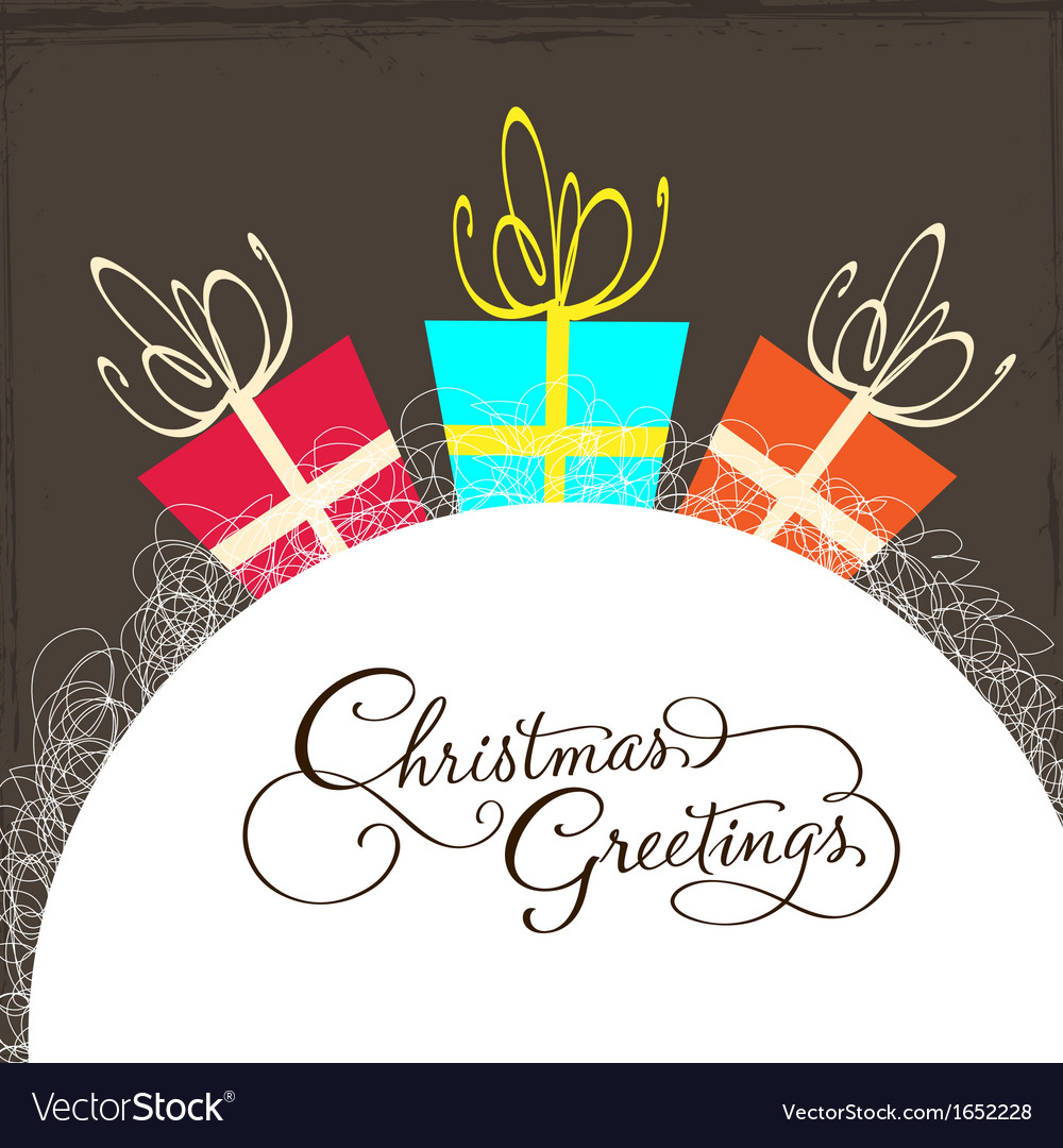 Christmas card with gift vector | Price: 1 Credit (USD $1)