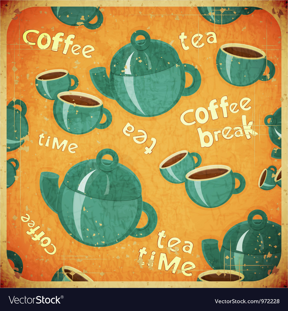 Coffee break retro vector | Price: 1 Credit (USD $1)