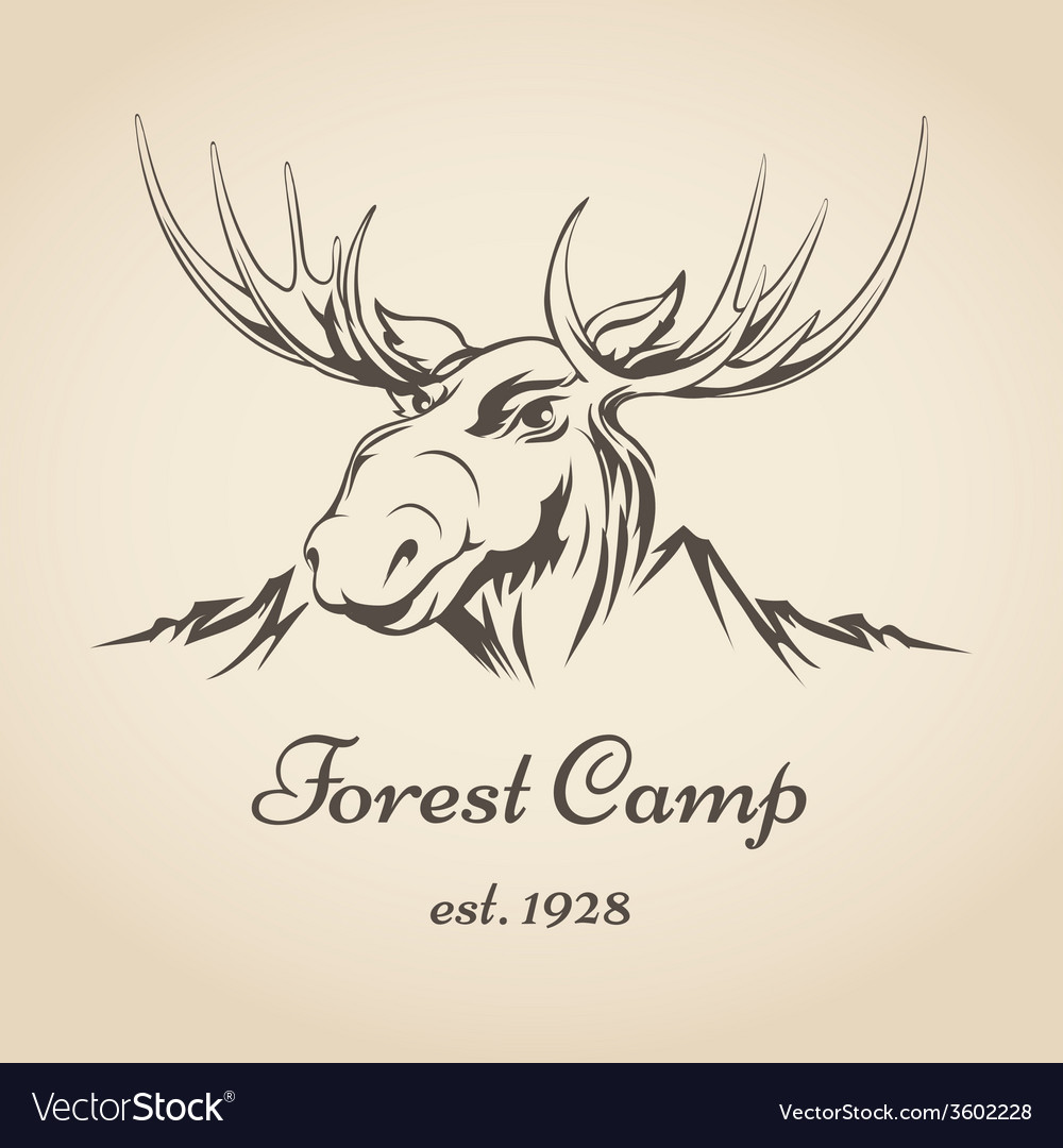 Forest camp logo vector | Price: 1 Credit (USD $1)