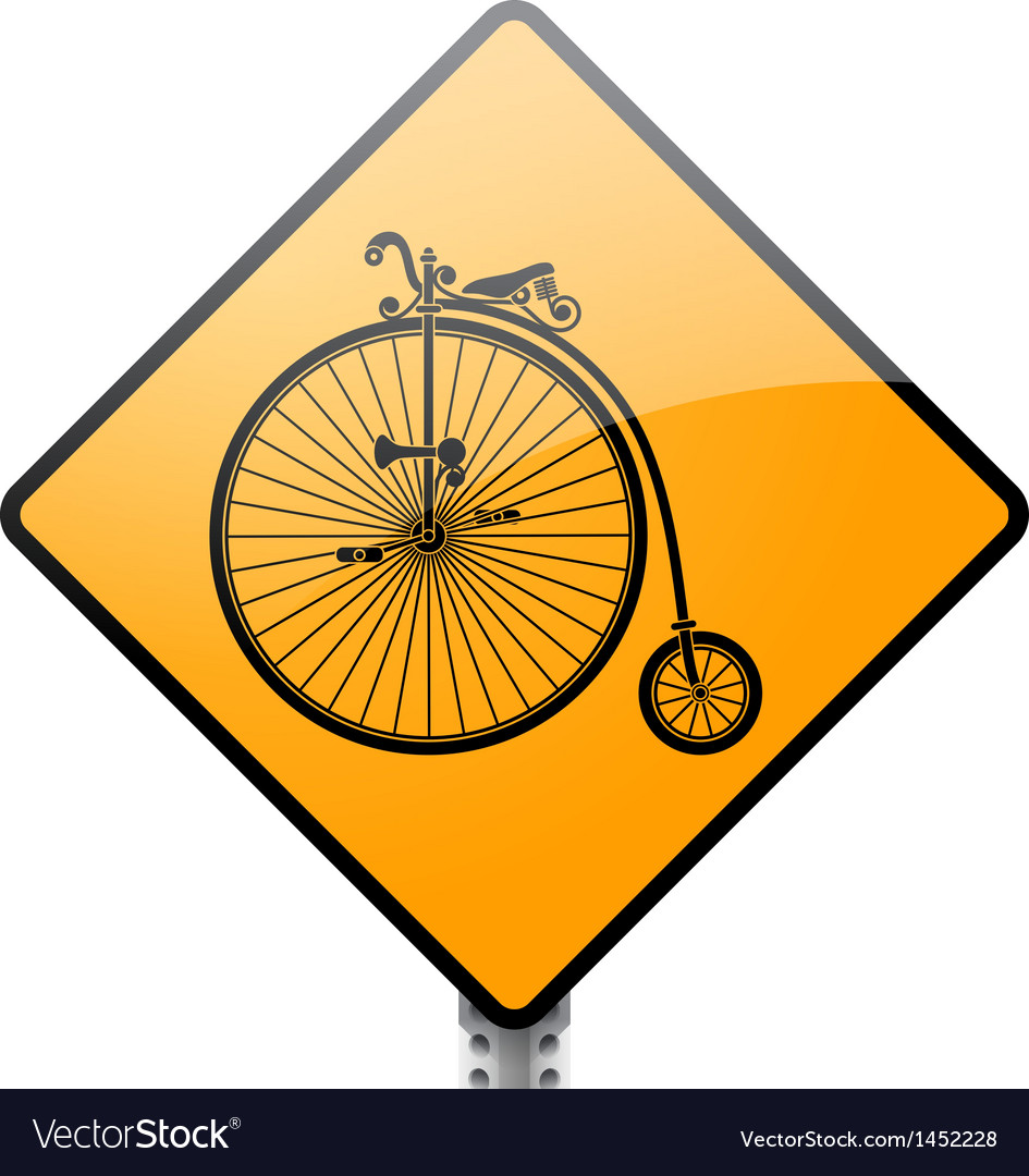 Penny farthing bicycle sign vector | Price: 1 Credit (USD $1)
