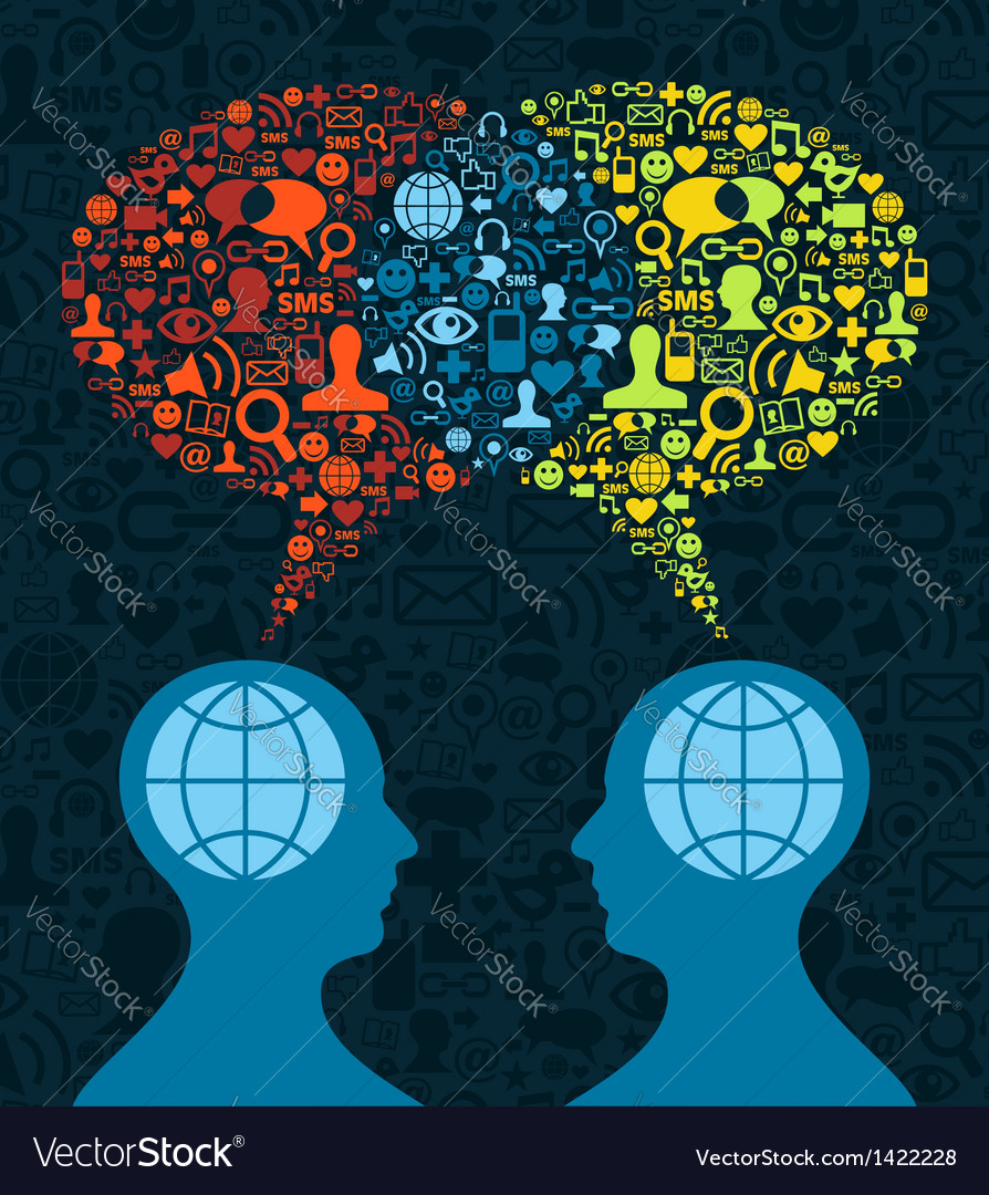 Social media brain communication vector