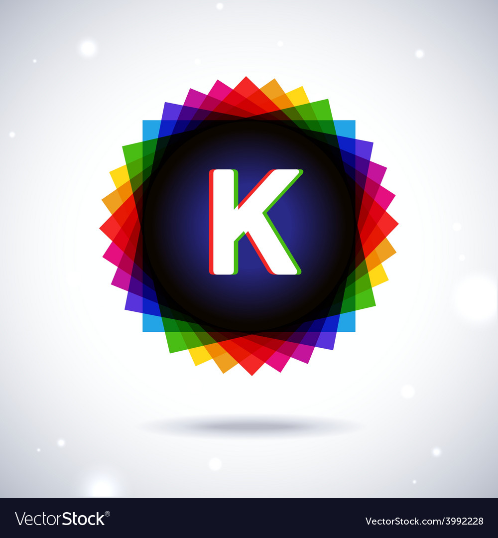 Spectrum logo icon letter k vector | Price: 1 Credit (USD $1)