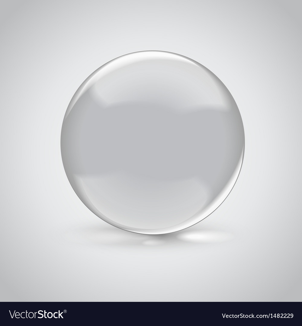 3d empty glass sphere vector | Price: 1 Credit (USD $1)