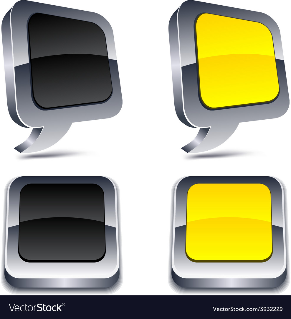 3d realistic buttons vector | Price: 1 Credit (USD $1)