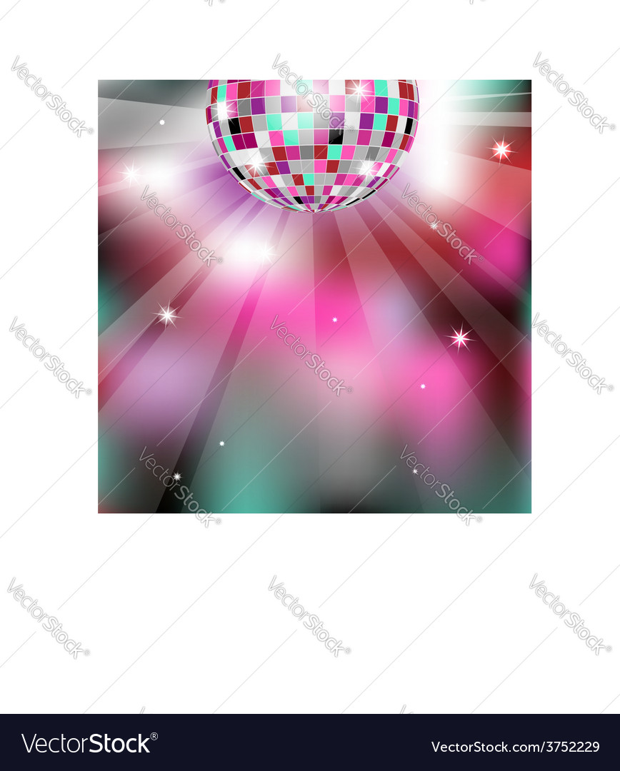 Background with disco ball eps10 vector | Price: 1 Credit (USD $1)