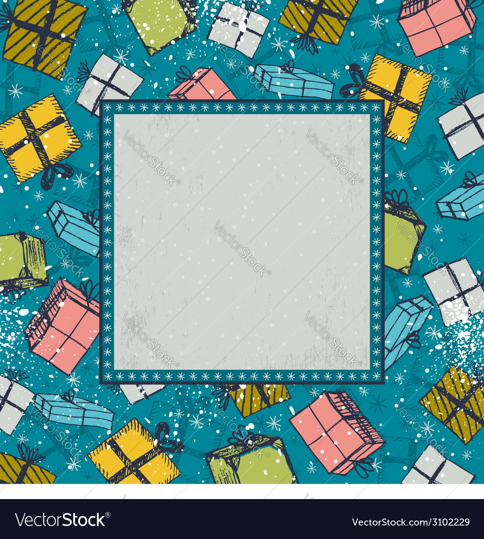 Color background with christmas gifts vector | Price: 1 Credit (USD $1)