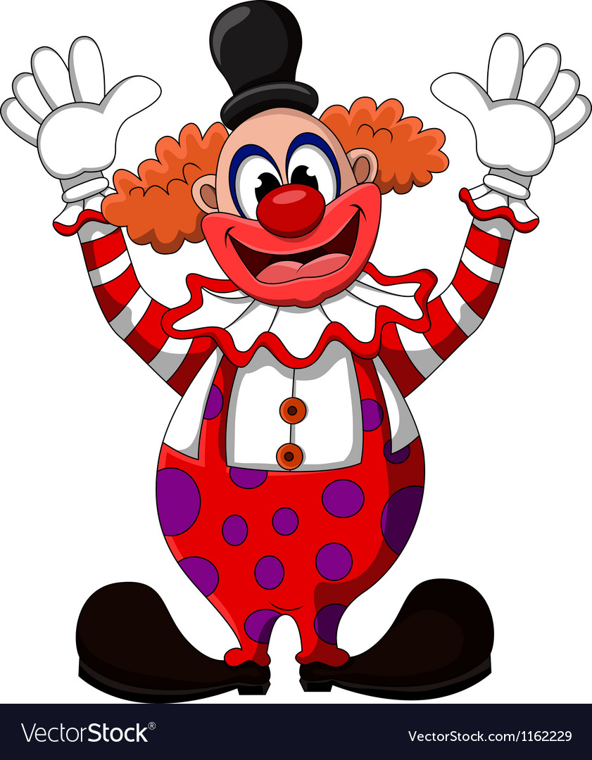 Cute clown cartoon vector | Price: 1 Credit (USD $1)
