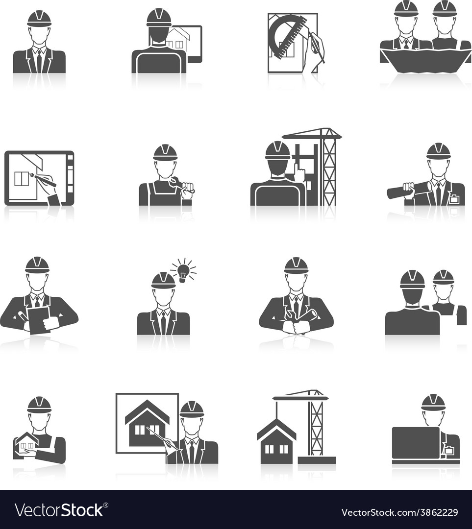 Engineer icons set vector | Price: 1 Credit (USD $1)