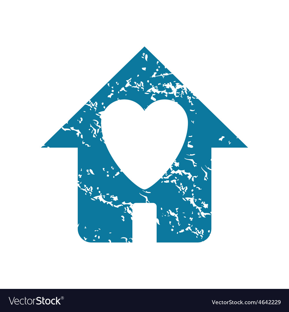Grunge beloved house icon vector | Price: 1 Credit (USD $1)