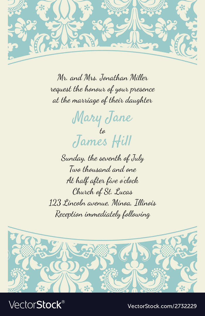 Invitation with rich background renaissance vector | Price: 1 Credit (USD $1)