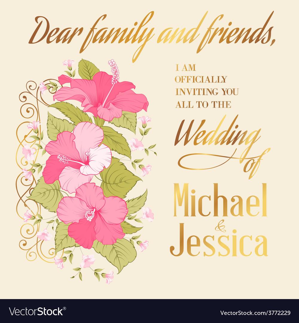 Marriage invitation card vector | Price: 1 Credit (USD $1)