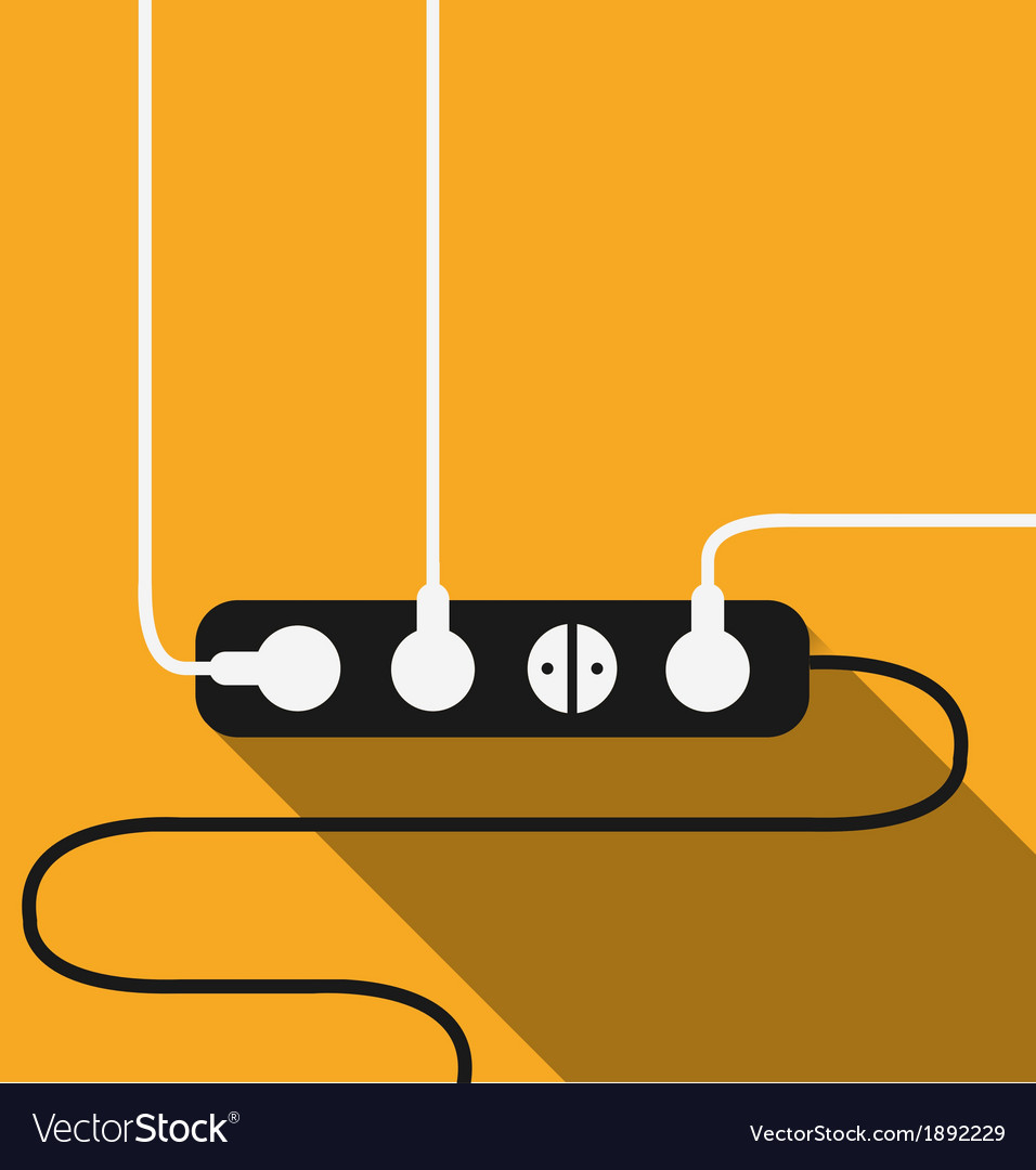 Power outlet icon in minimal style vector | Price: 1 Credit (USD $1)