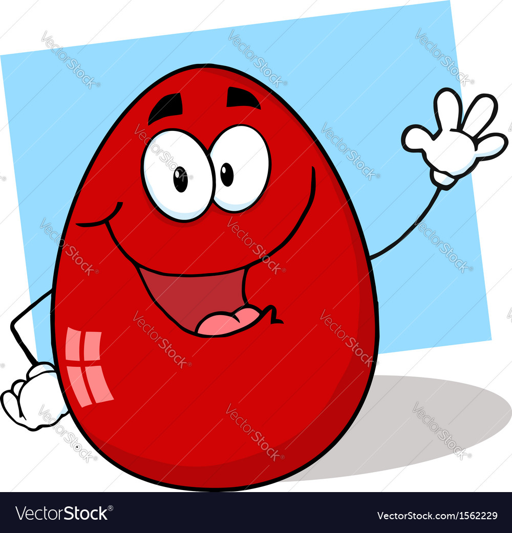 Royalty free rf clipart easter egg mascot cartoon vector | Price: 1 Credit (USD $1)