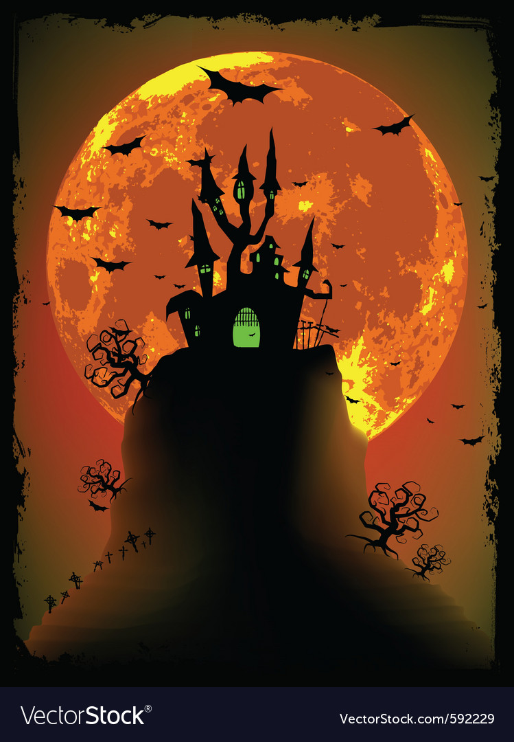 Scary halloween with magical abbey eps 8 vector | Price: 1 Credit (USD $1)