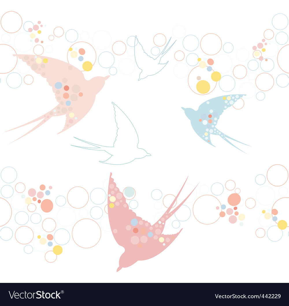 Swallow pattern vector | Price: 1 Credit (USD $1)