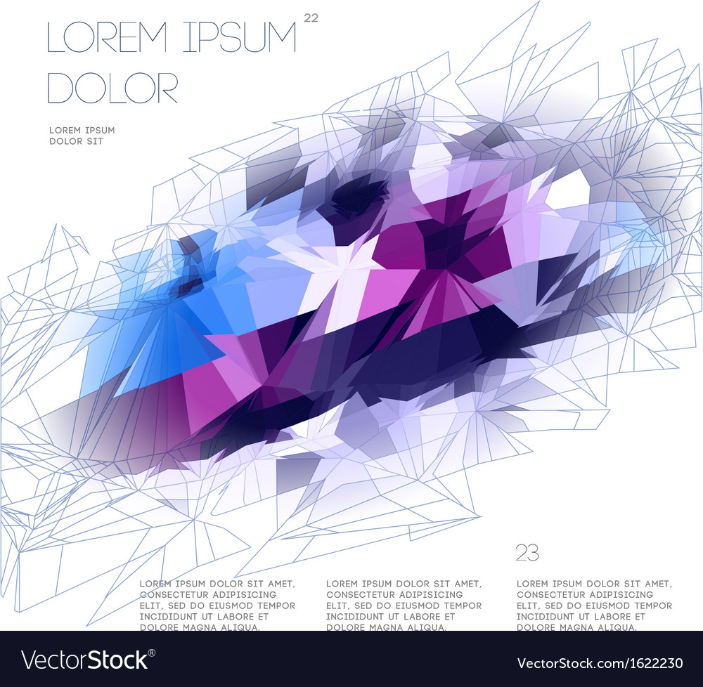 Abstract polygonal template design vector | Price: 1 Credit (USD $1)