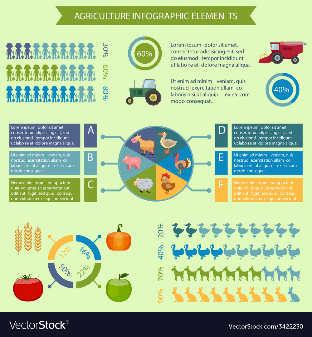 Agriculture infographic elements vector | Price: 1 Credit (USD $1)