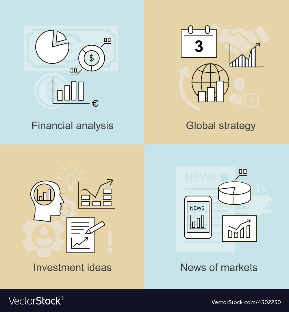 Business concepts news of markets investment vector | Price: 1 Credit (USD $1)