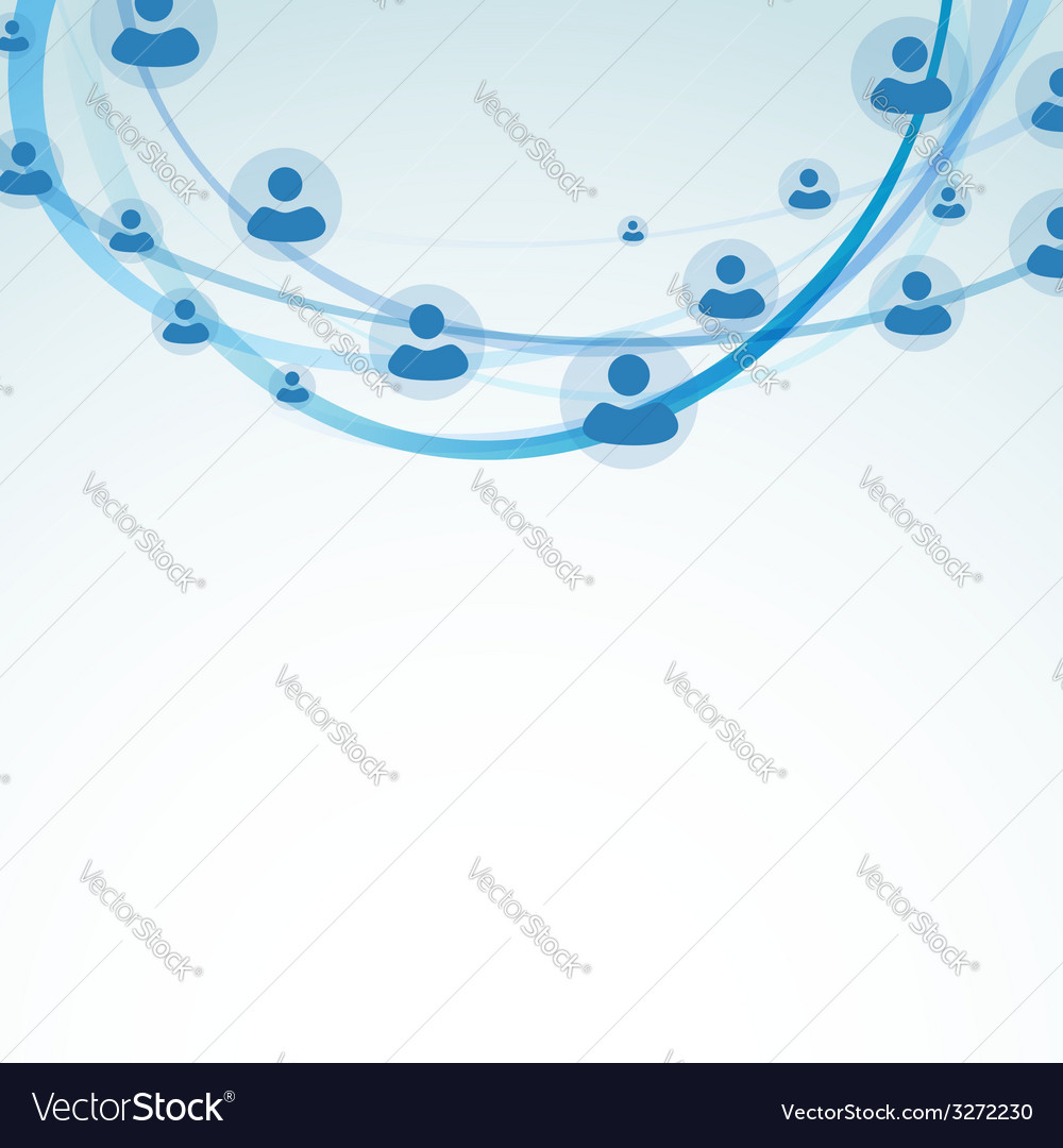 Business user connection network relations vector | Price: 1 Credit (USD $1)
