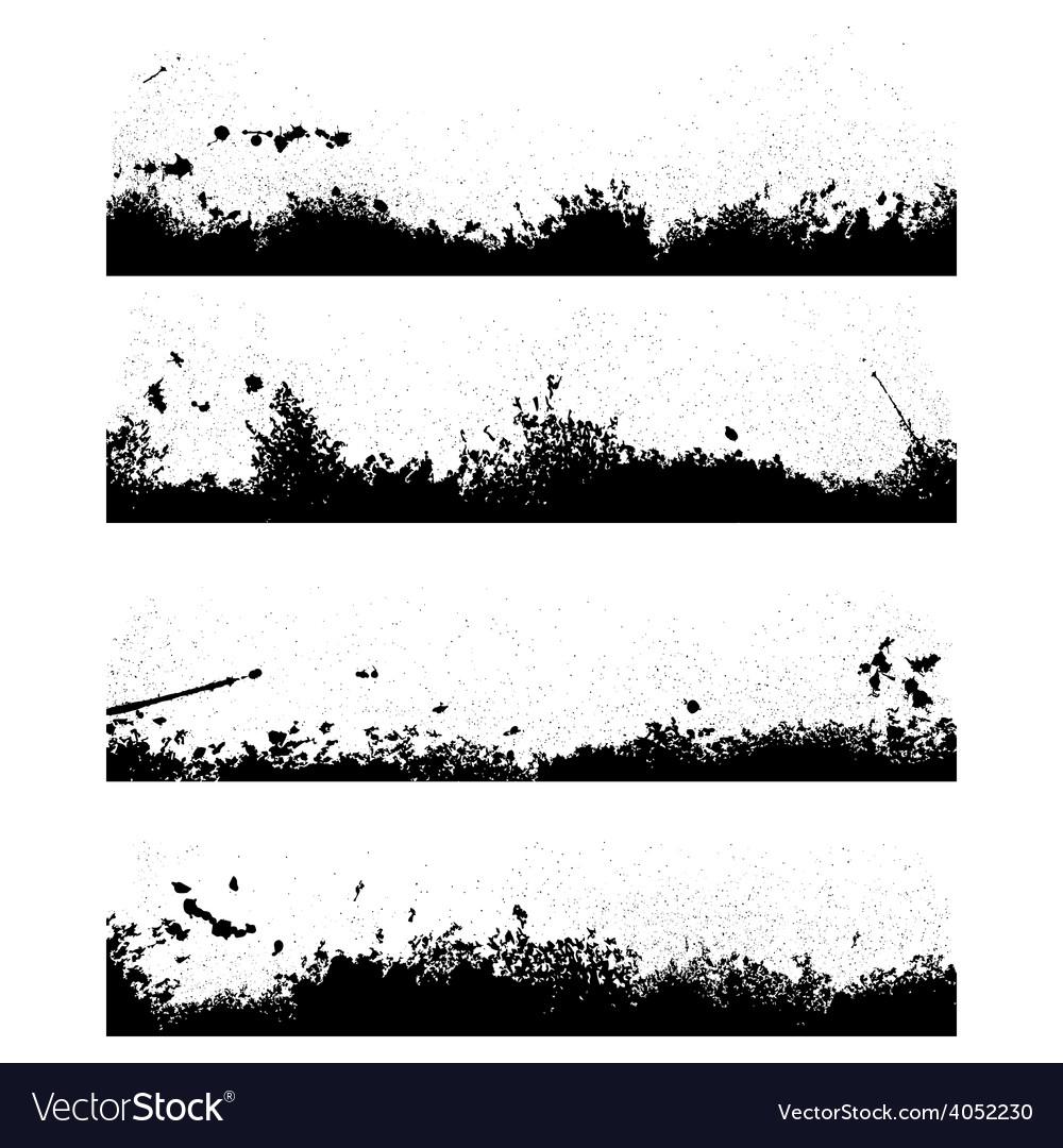 Four black frames blot vector | Price: 1 Credit (USD $1)
