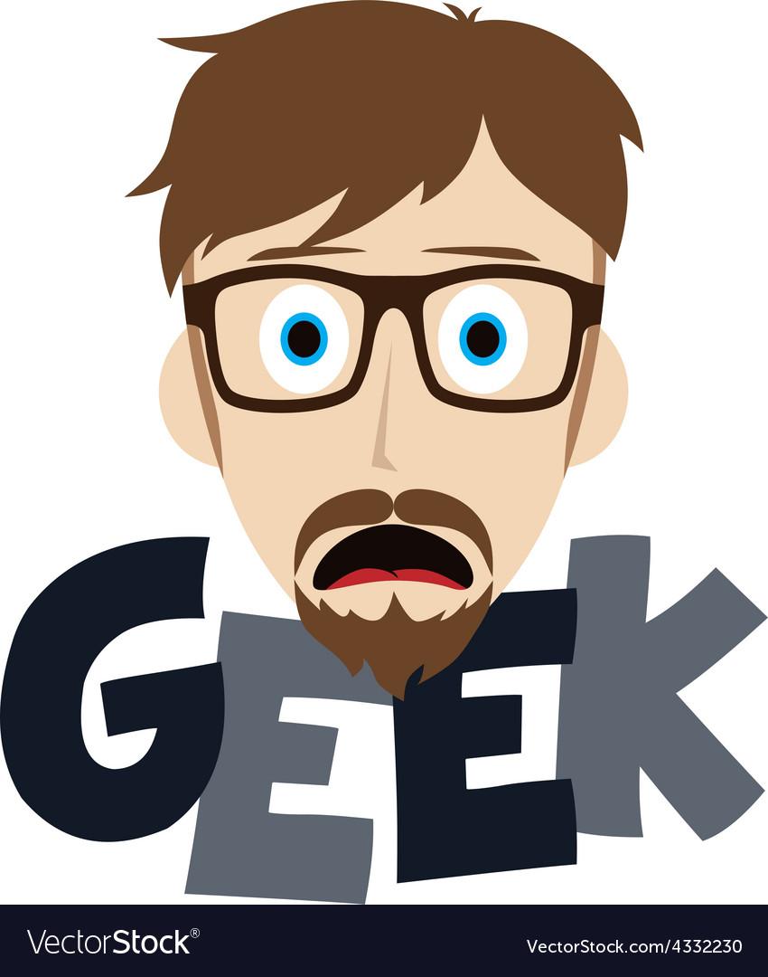 Geek boy vector