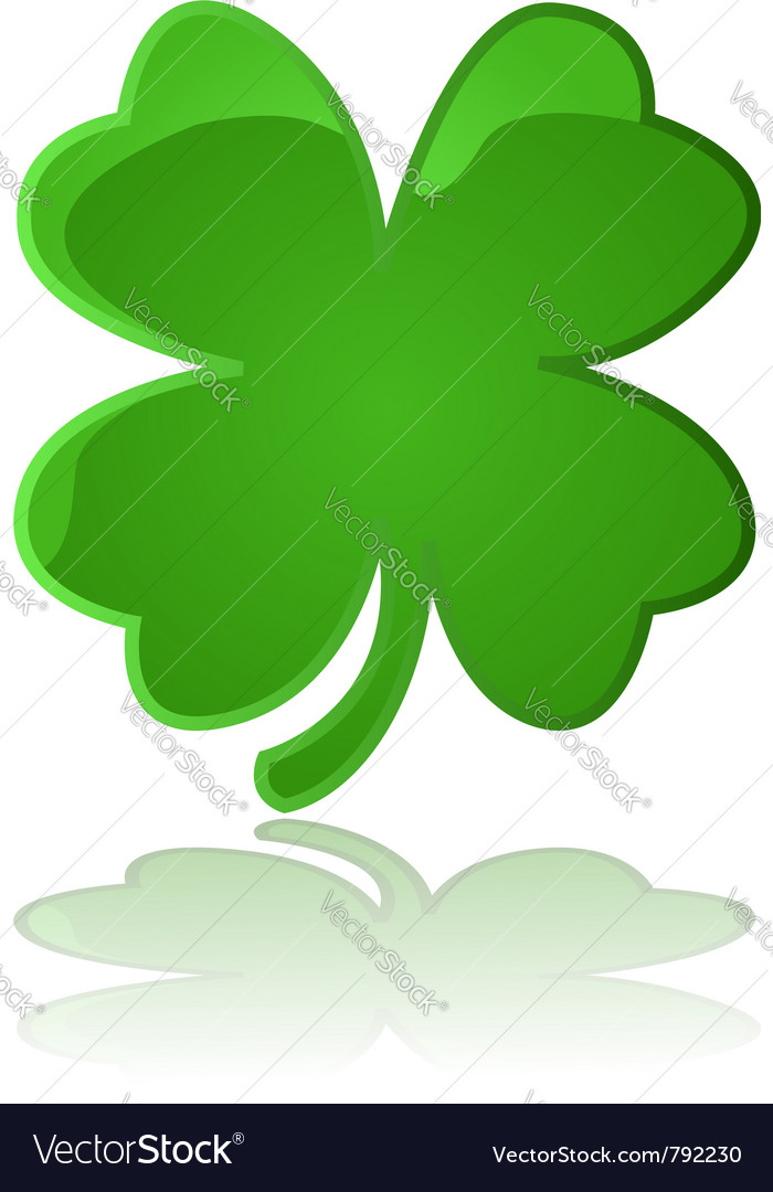Glossy four leaf clover vector | Price: 1 Credit (USD $1)