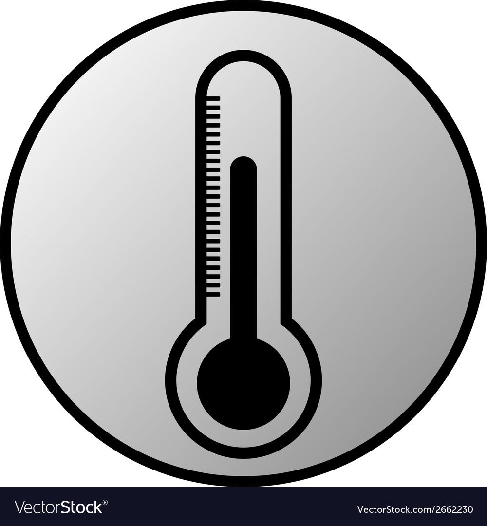 Thermometer button vector | Price: 1 Credit (USD $1)