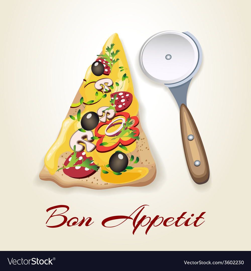 Pizza and knife vector | Price: 1 Credit (USD $1)