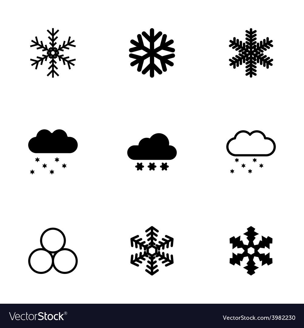 Snow icon set vector | Price: 1 Credit (USD $1)