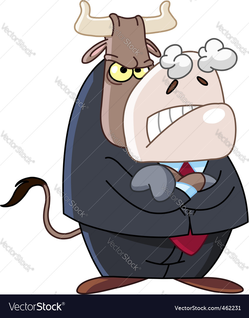 Angry business bull vector | Price: 1 Credit (USD $1)