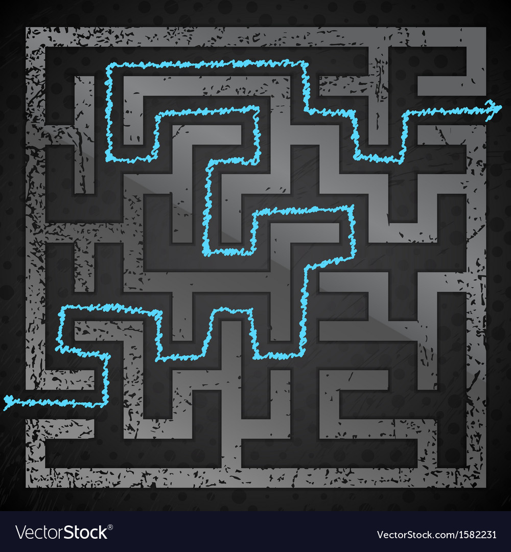 Black maze vector | Price: 1 Credit (USD $1)