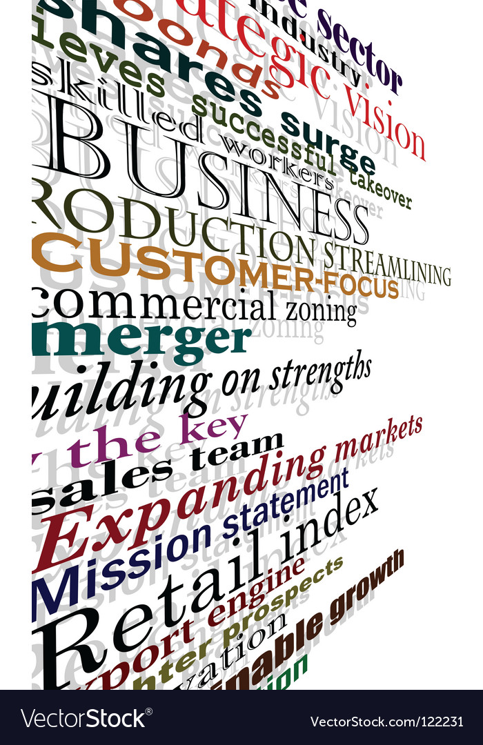 Business words vector | Price: 1 Credit (USD $1)