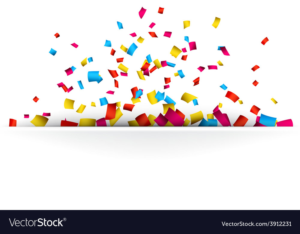 Confetti celebration background vector | Price: 1 Credit (USD $1)