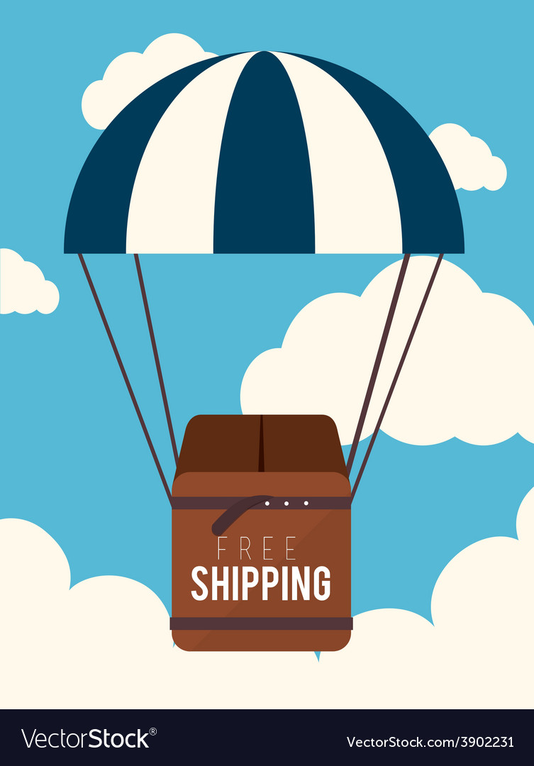 Delivery over cloudscape background vector | Price: 1 Credit (USD $1)