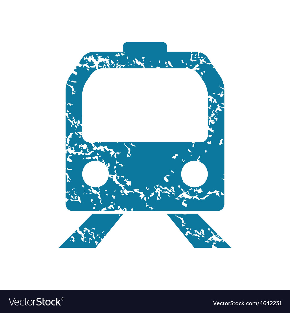 Grunge train icon vector | Price: 1 Credit (USD $1)