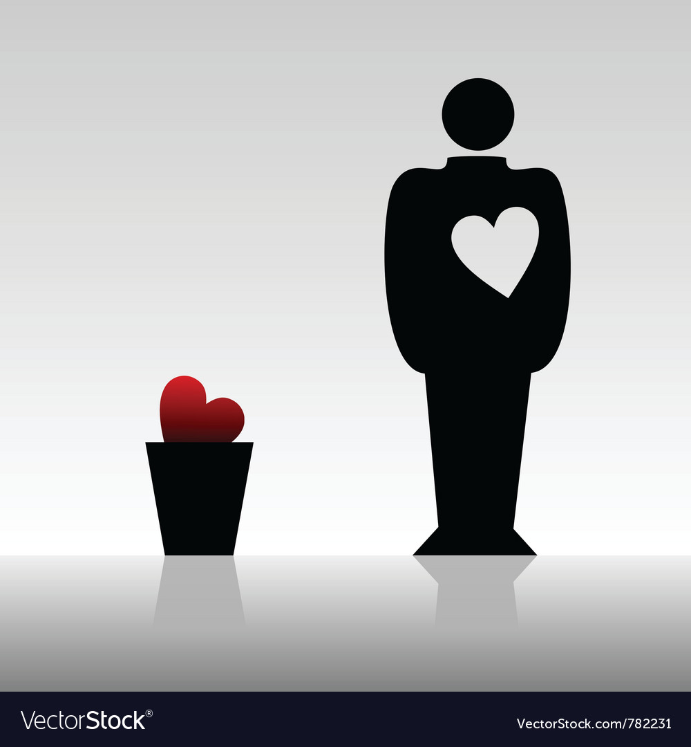 Mans heart vector | Price: 1 Credit (USD $1)