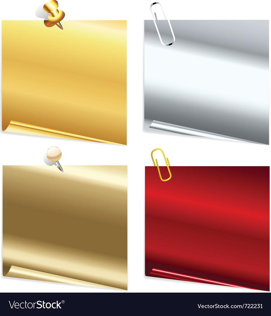 Metallic notes vector | Price: 1 Credit (USD $1)