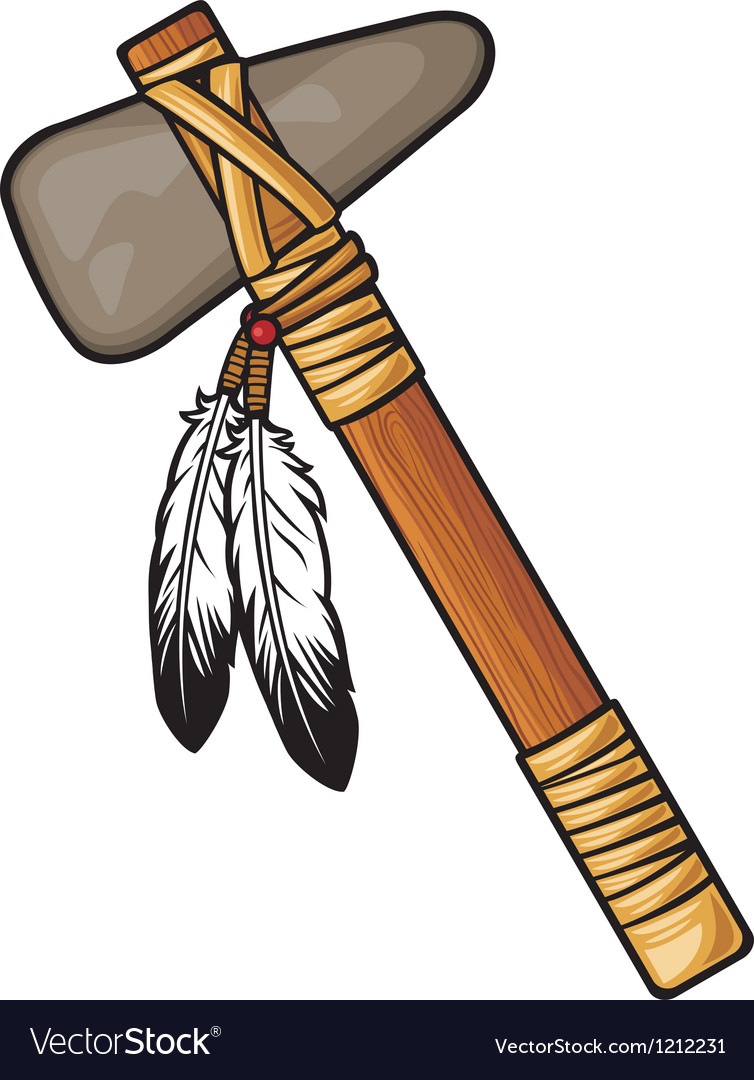 Native american tomahawk vector | Price: 3 Credit (USD $3)