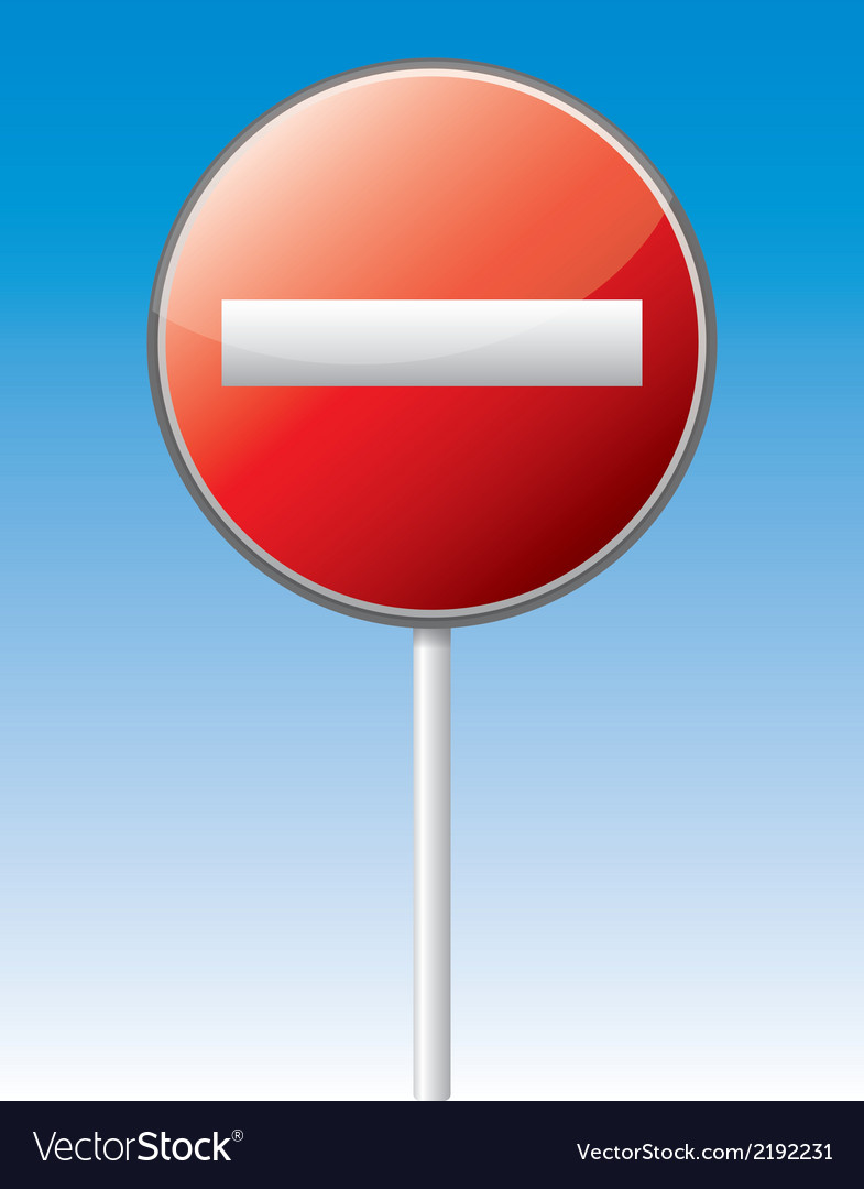 One way traffic board vector | Price: 1 Credit (USD $1)