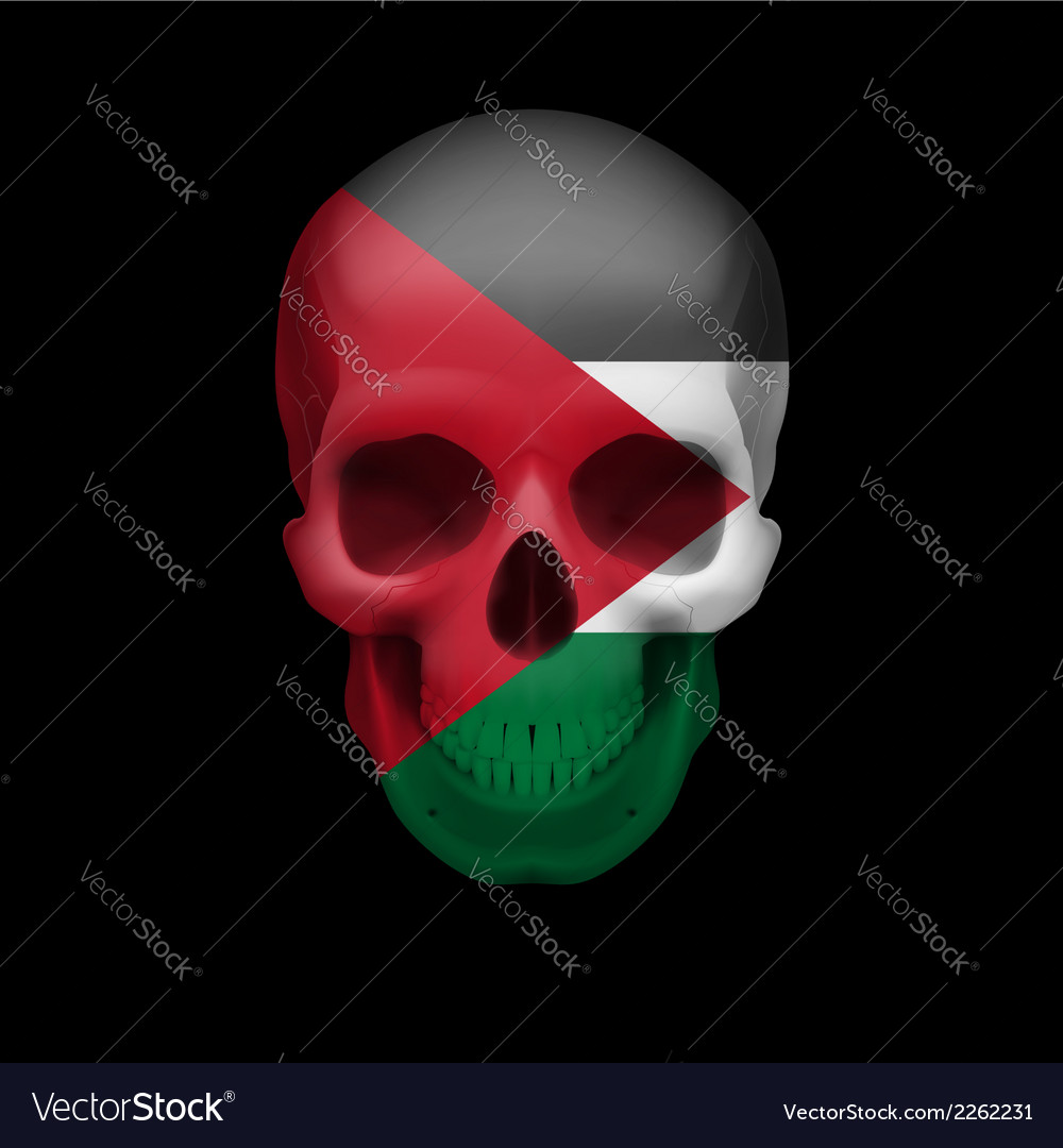 Palestinian flag skull vector | Price: 1 Credit (USD $1)