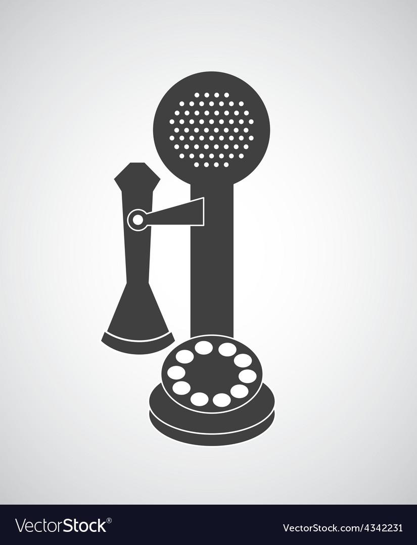 Retro telephone vector | Price: 1 Credit (USD $1)