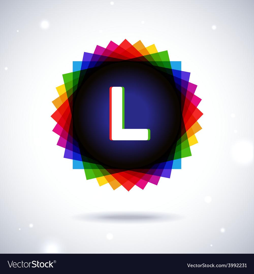 Spectrum logo icon letter l vector | Price: 1 Credit (USD $1)