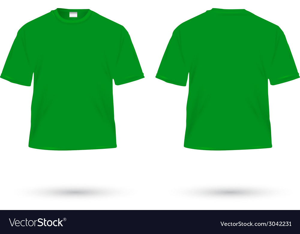 T shirt green vector | Price: 1 Credit (USD $1)