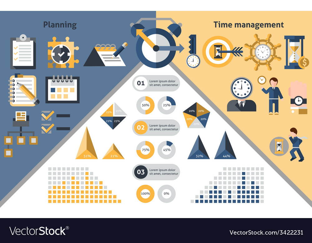 Time management infographics vector | Price: 1 Credit (USD $1)