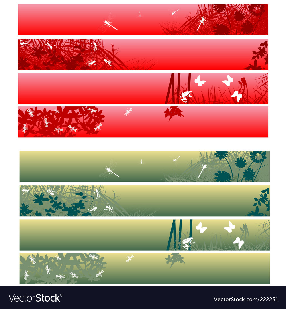 Web banners headers vector | Price: 1 Credit (USD $1)