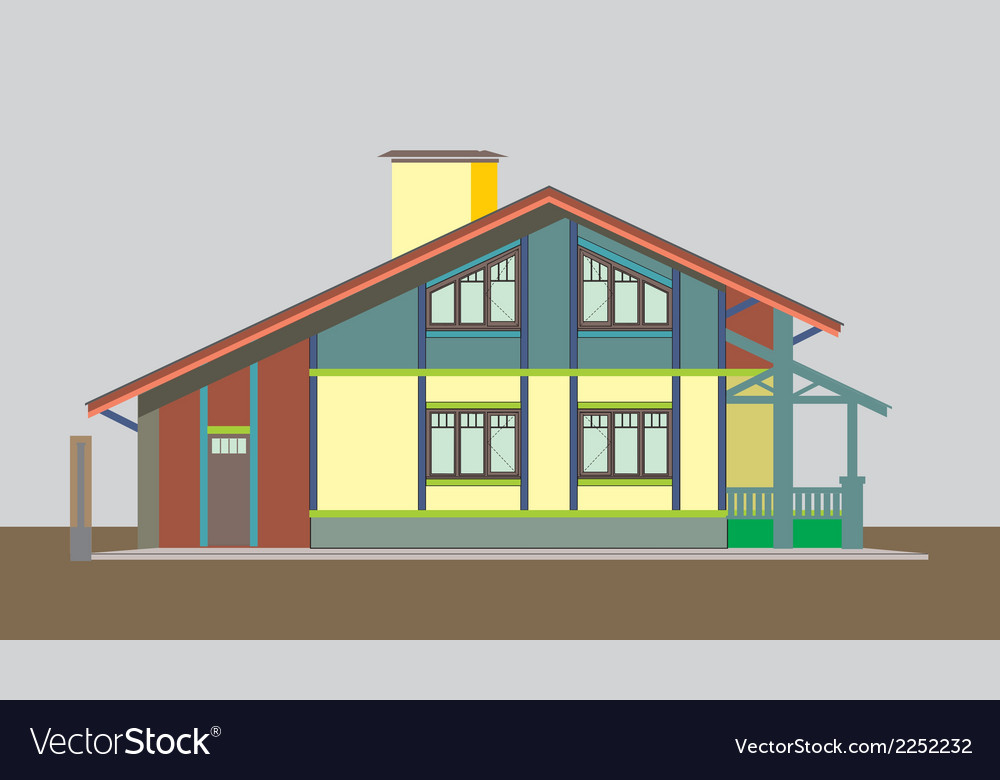 04 colored house v vector | Price: 1 Credit (USD $1)