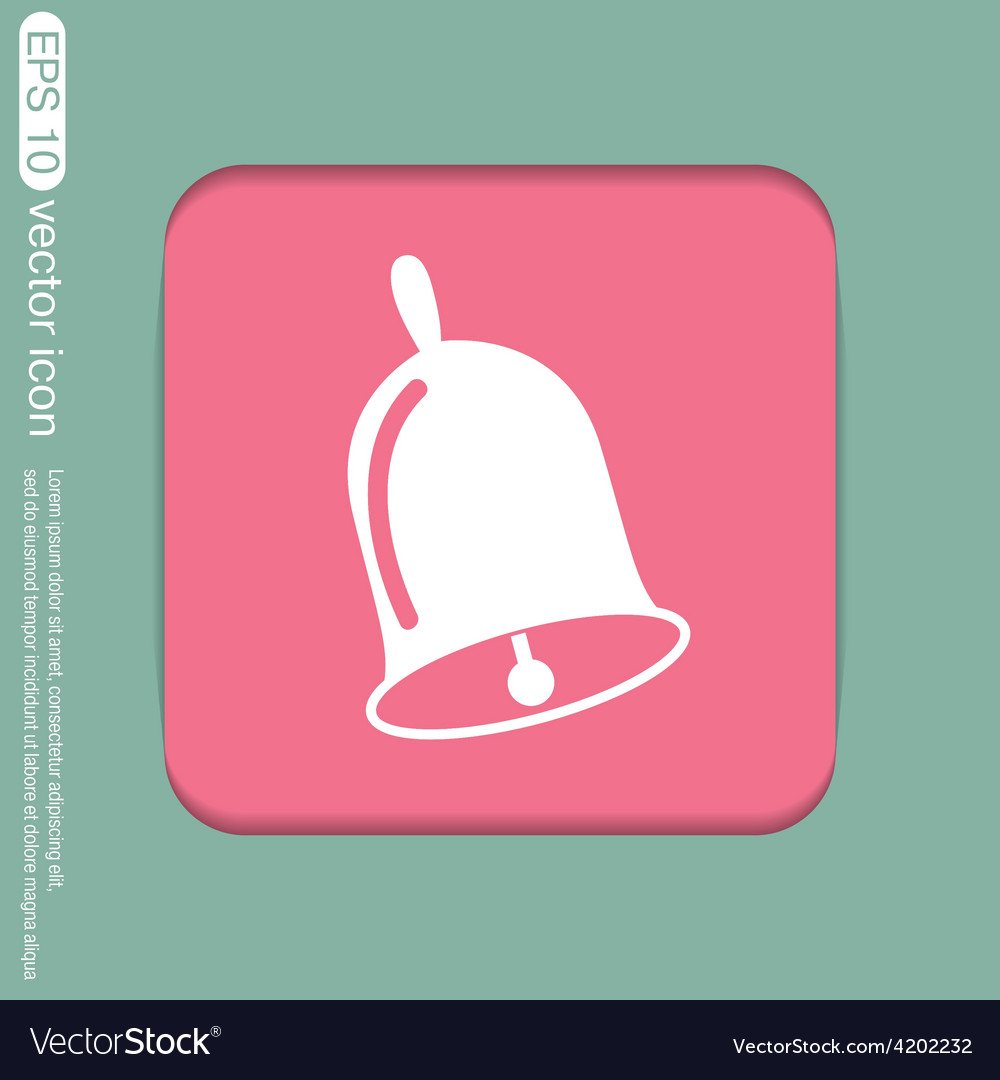 Bell first call a symbol of the school vector | Price: 1 Credit (USD $1)